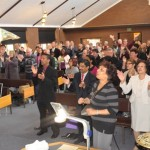 Sunday church service in Canberra