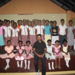 Ps Daniel at Girl's home in Badulla SL