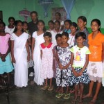 Ps Daniel with children in their dormitory