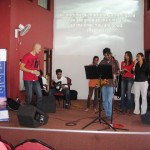 Worship team at Gospel Tabernacle SL where Pastor Daniel ministered