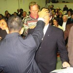 Ps Daniel prays for another Credentialed Minister