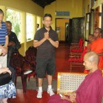 Pr Daniel prays for chief Buddhist priest