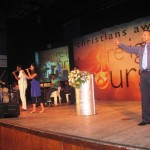 Pr Daniel's daughter Shanne leading worship with SL worship team