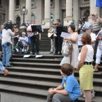 Christians gather to pray at Victorian Parliament