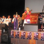Carolyn from Perth leads in special worship item