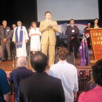 Pastor Donnie ministering at Australia Day Prayer in Melbourne