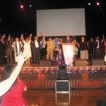 Pr Daniel leads in praise to Jesus