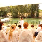 Preparing for baptism in Jordan river