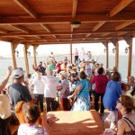 Praising Lord on Sea of Galilee Boat Ride