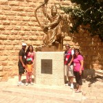 Pr Daniel and his family at Tomb of King David