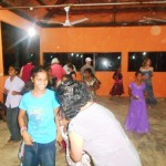 CTFM team dancing with girls