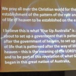 Rise Up Australia in God's Government