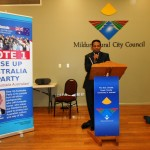 Pr Daniel addressing RUAP public gathering