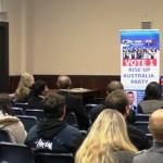 RUAP National President Daniel Nalliah speaking at Geelong Campaign Meeting