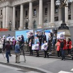 Free Speech Rally at Victorian Parliament in Melbourne
