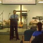 Pastor Daniel preaching God's Word