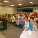 Praying for Australia for Jesus at the altar