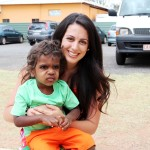 Melanie with Indigenous child