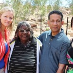 Pr Daniel, Rosalie & Melanie with Head Elder Aunty Margaret