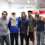 Pr Daniel with Indigenous men from Alice Springs