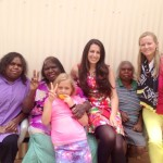 Rosalie and Melanie with Indigenous women