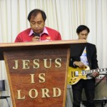 Opening prayer led by a Pentecostal Minister