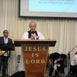 Lord's prayer led by an Anglican Minister