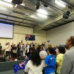 Ps Daniel and Christian leaders on stage