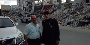 Pastor William Devlin of Infinity Bible Church in the Bronx borough of New York City, stands with Pastor Hanna Massad in Gaza in this photo shared Sept. 13, 2014, on Facebook.
