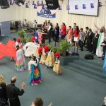 Special worship dance item from Indonesian team & children