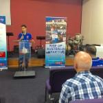 RUAP candidate Peter speaking in Brisbane