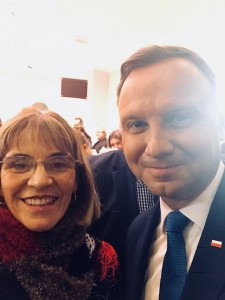 Yvonne unexpectedly meets Polish President at a local church