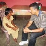 Ps Daniel interviewing the children