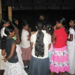 Ps Daniel talking with girls about their future plans