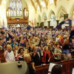 Part of the crowd of 700 Aussie Christians praying for Australia's Transformation