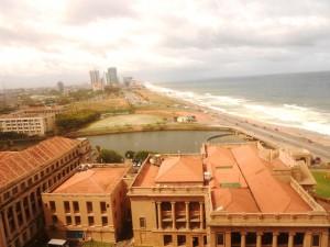 View from 5 star hotel in Colombo, Sri Lanka
