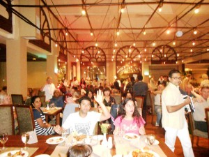 CTFM team at breakfast at 5 star hotel in Colombo, Sri Lanka