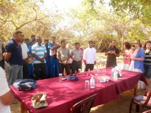 Pr Daniel prays for Sri Lankan army soldiers