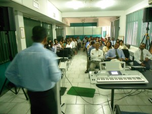 Pr Daniel preaching God's Word to Dilma Tea Owners and Executive Staff