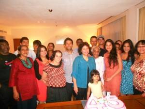 Maryse's 45th birthday celebration with extended family in Sri Lanka