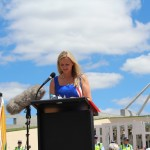 RUAP National Vice-President Rosalie speaking